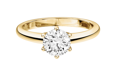 Diamantring New York in Gelbgold – Farbe G|VS