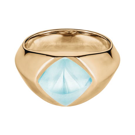 Sugar Loaf Ring Aquamarin Roségold