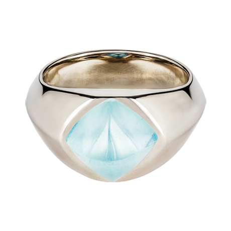 Sugar Loaf Ring Aquamarin Weißgold
