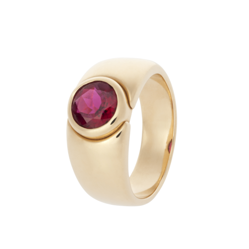 Pure Ring Rubellit Gelbgold