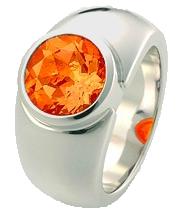 Pure Ring Feueropal orange