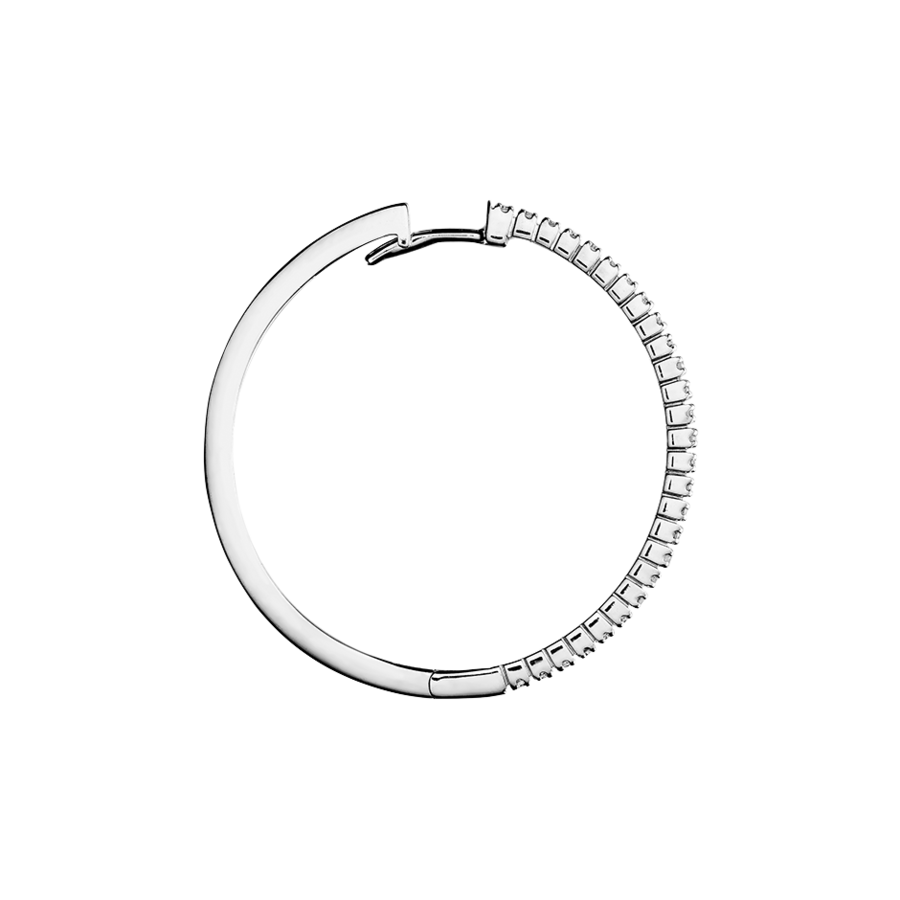 Diamond Hoop Earrings IV in White Gold