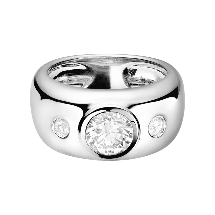 Diamond Ring Naples 1 carat in White Gold