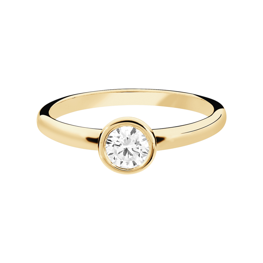 Diamond Ring Vienna 0.5 carat in Rose Gold
