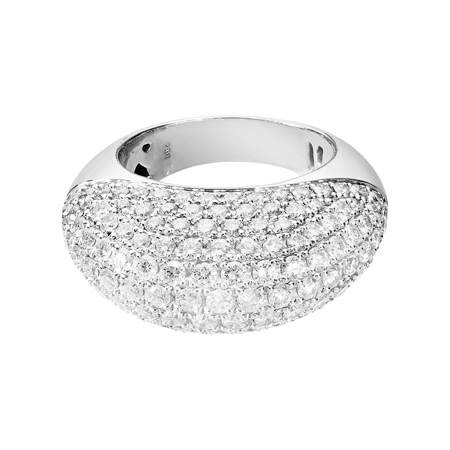 Diamond Snow Ring Oval in White Gold