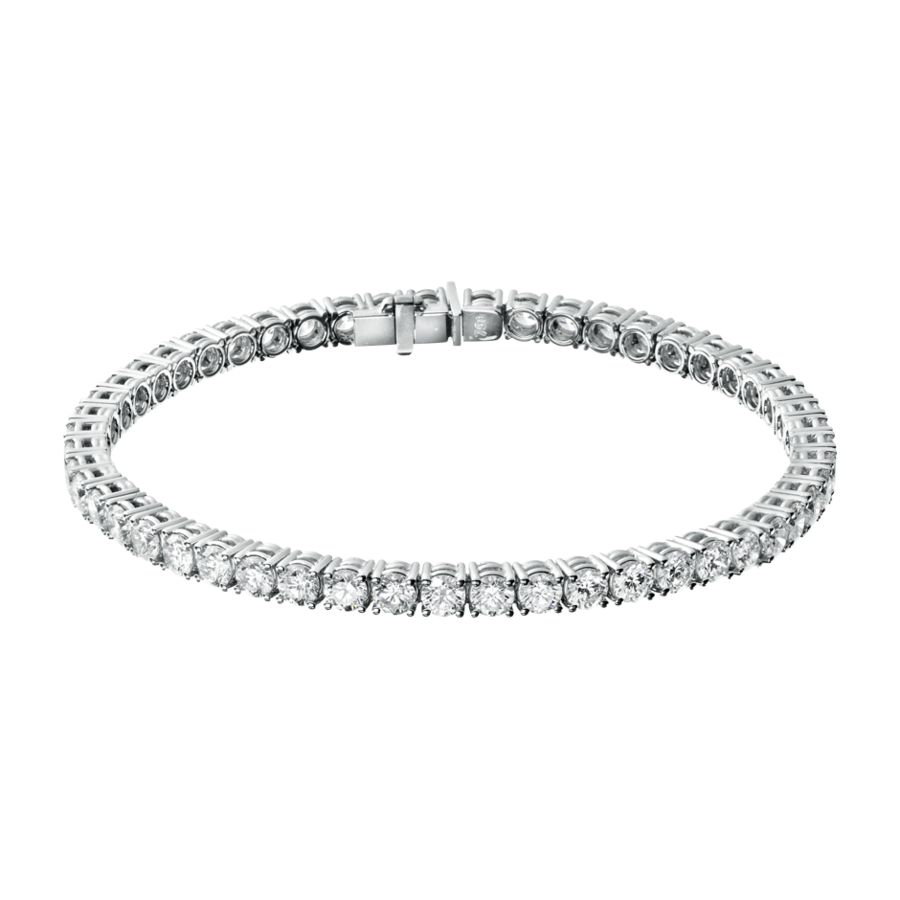 Diamond Snow Tennisarmband in Weißgold