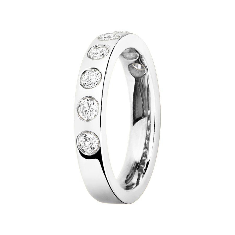 Eternity Ring Helsinki in White Gold