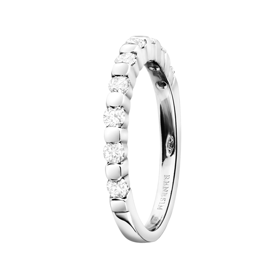 Eternity Ring Knokke G VS in Platinum