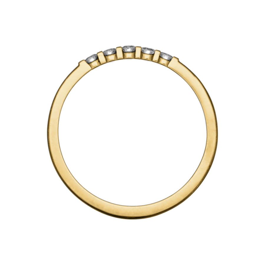 Eternity Ring Rotterdam H SI in Yellow Gold