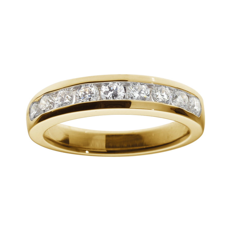 Eternity Ring Tallinn H SI in Yellow Gold