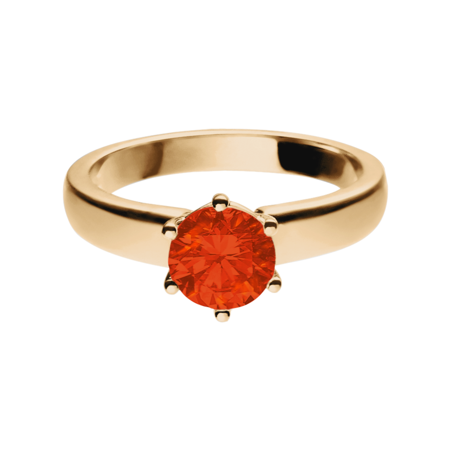 Malmö Feueropal orange in Roségold