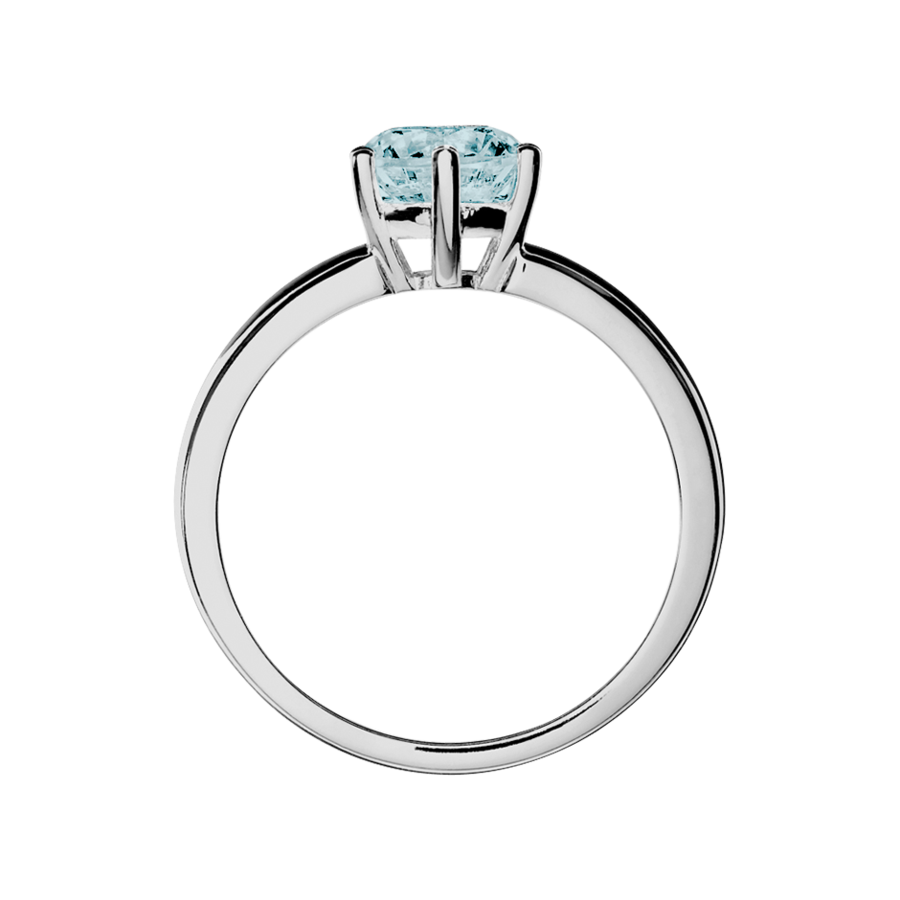 Malmö Aquamarine blue in White Gold