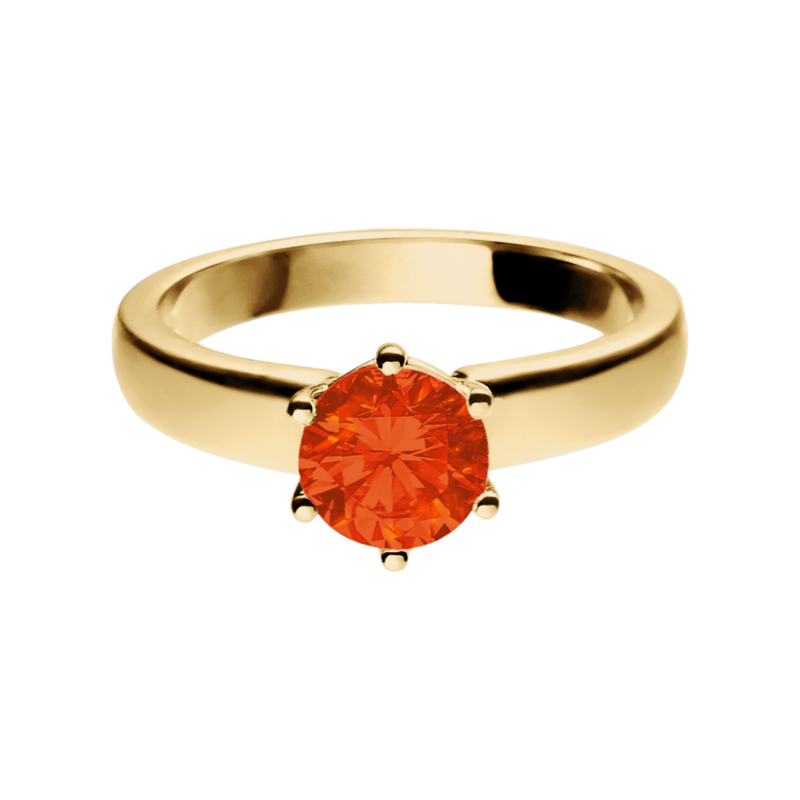 Malmö Feueropal orange in Gelbgold