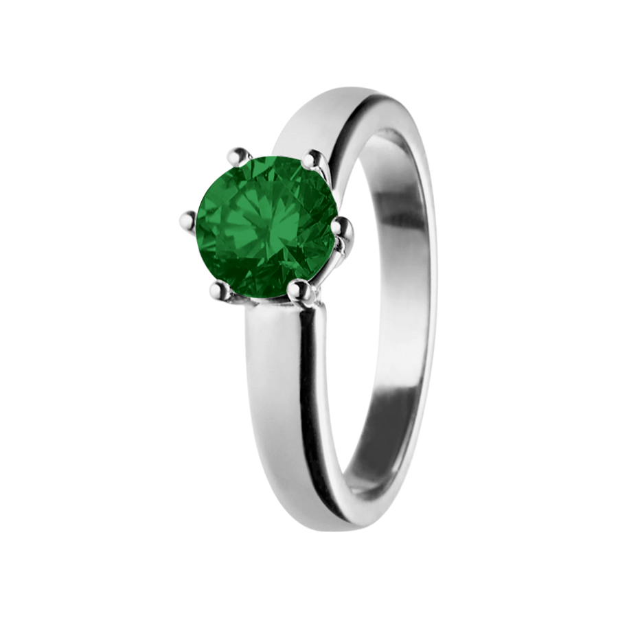 Malmö Tourmaline green in White Gold