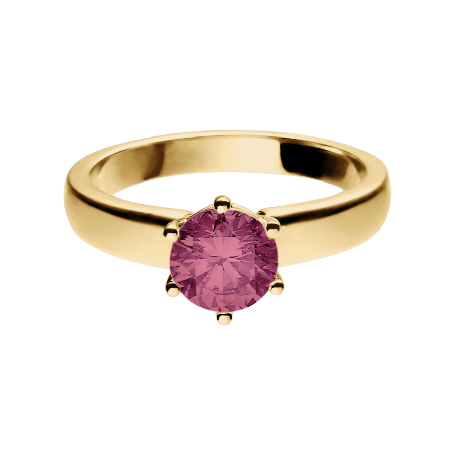 Malmö Tourmaline pink in Yellow Gold