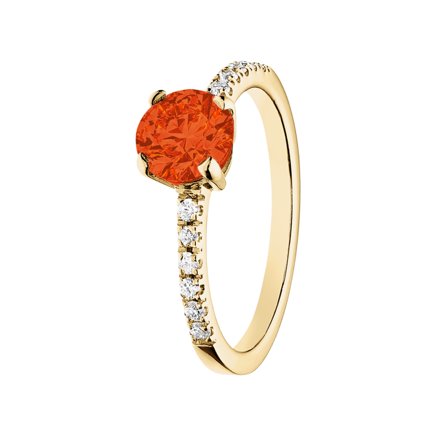 Melbourne Feueropal orange in Gelbgold