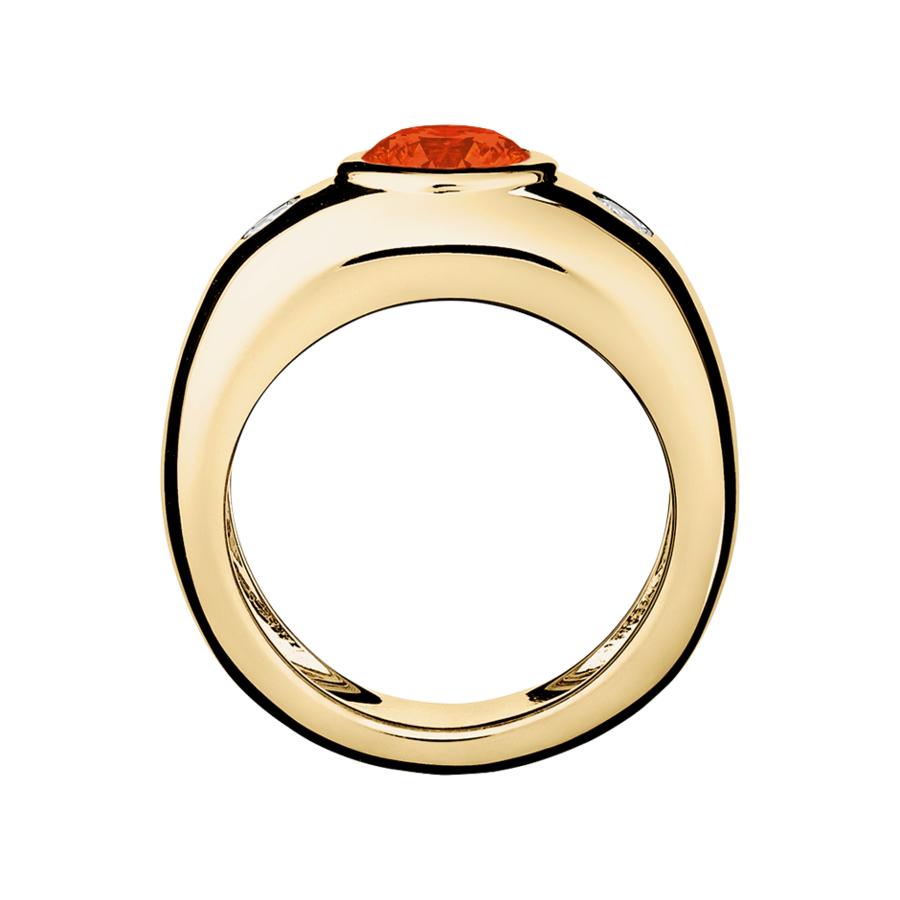 Naples Feueropal orange in Gelbgold