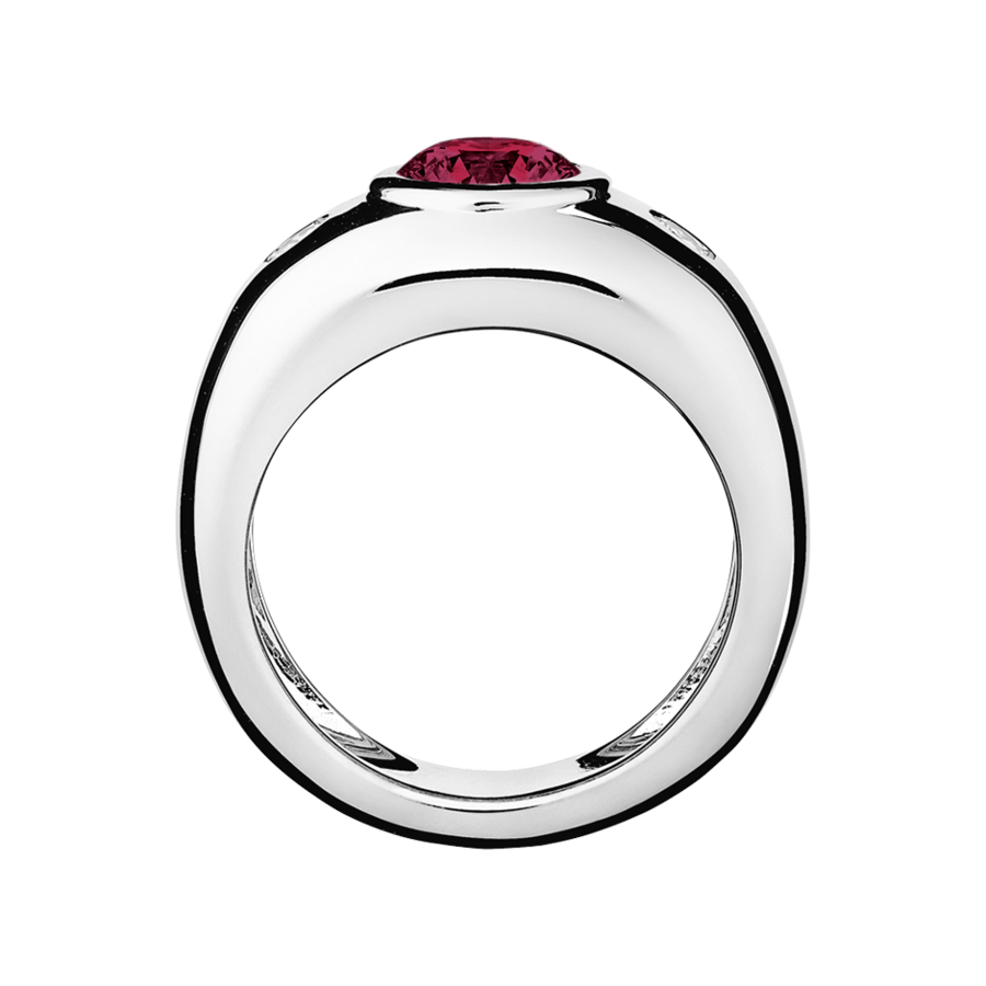 Naples Rhodolite red in Platinum