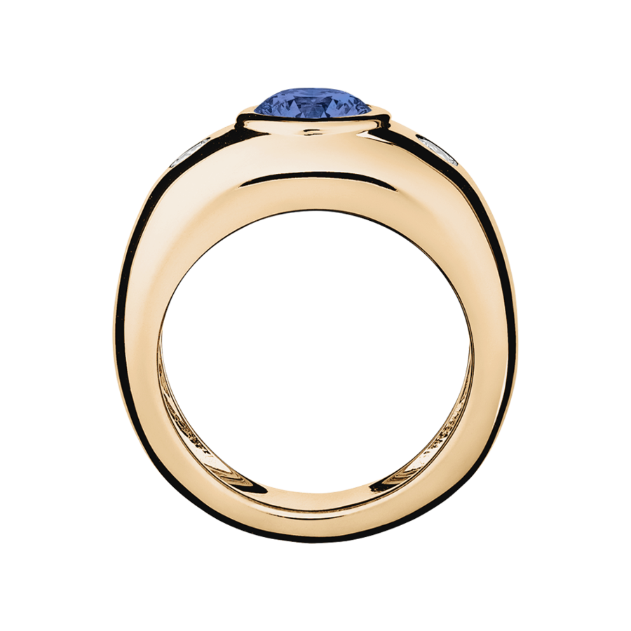 Naples Tanzanite blue in Rose Gold