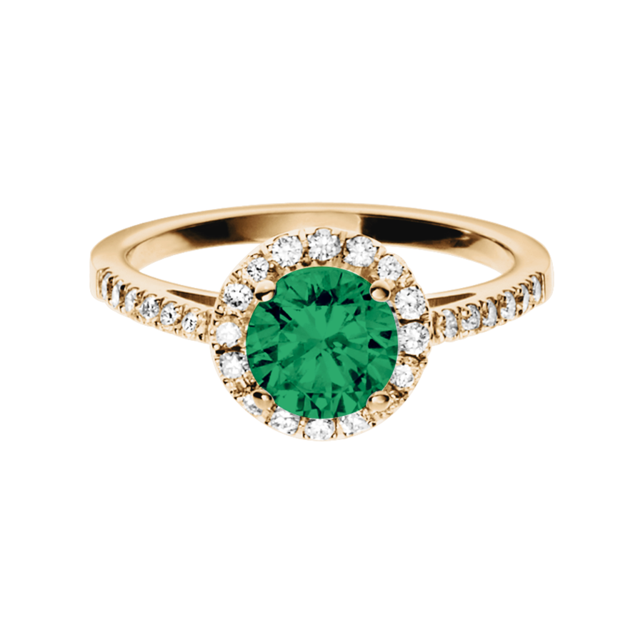 Prague Emerald green in Rose Gold