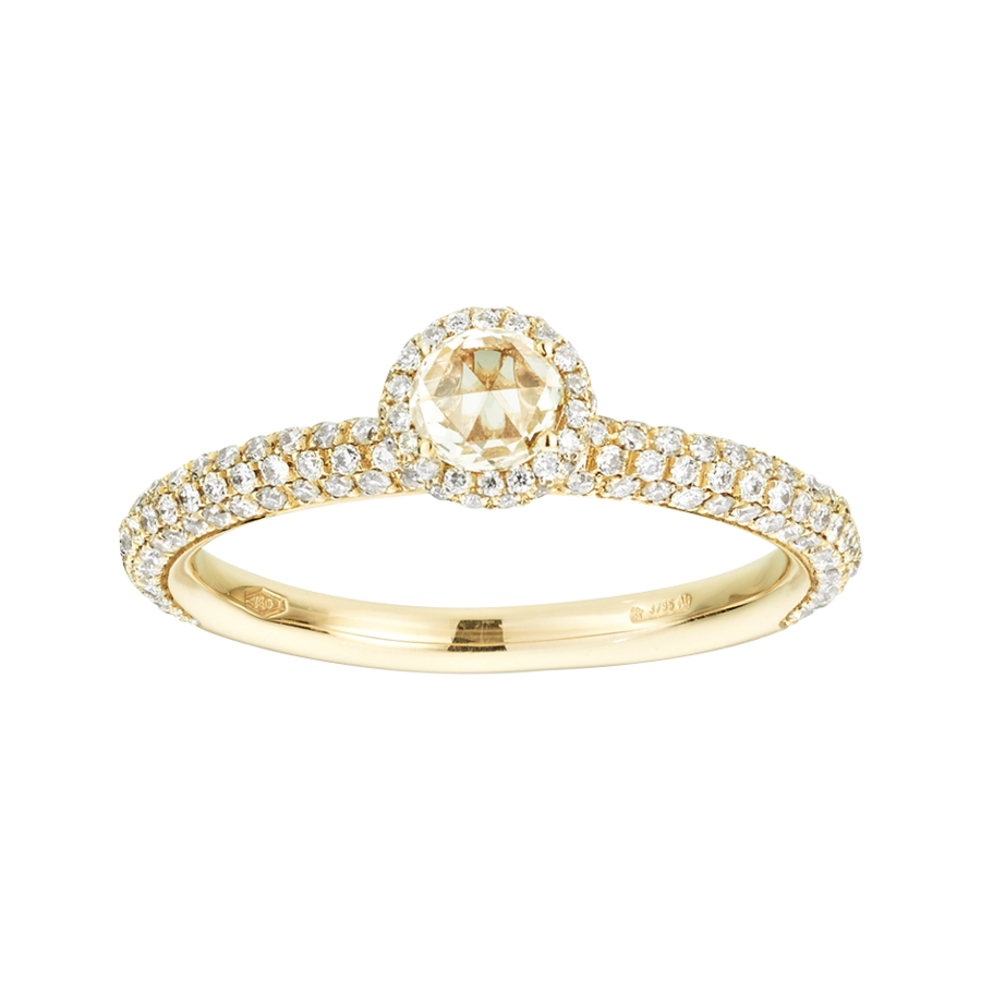 Ring Romance Pavé in Gelbgold