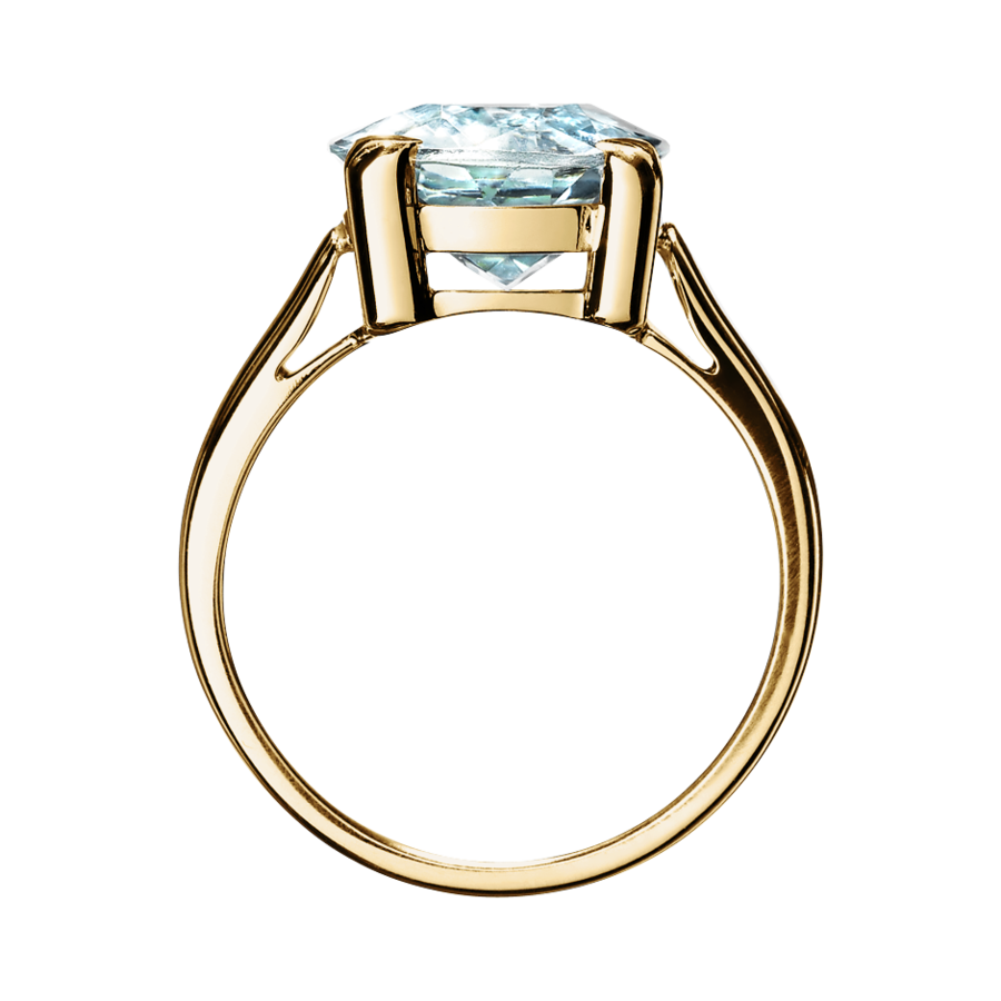 Rocks Antique Cut Ring in Gelbgold