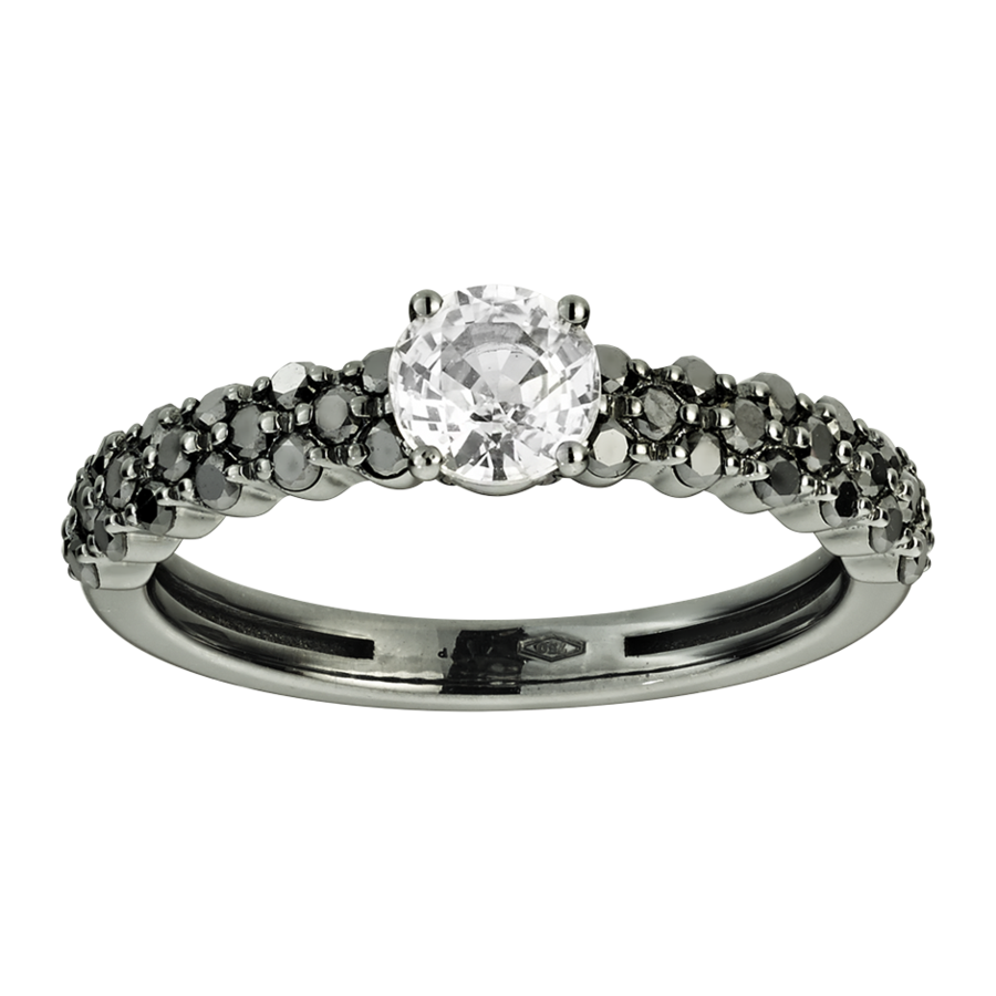 Romance Ring Triple in White Gold