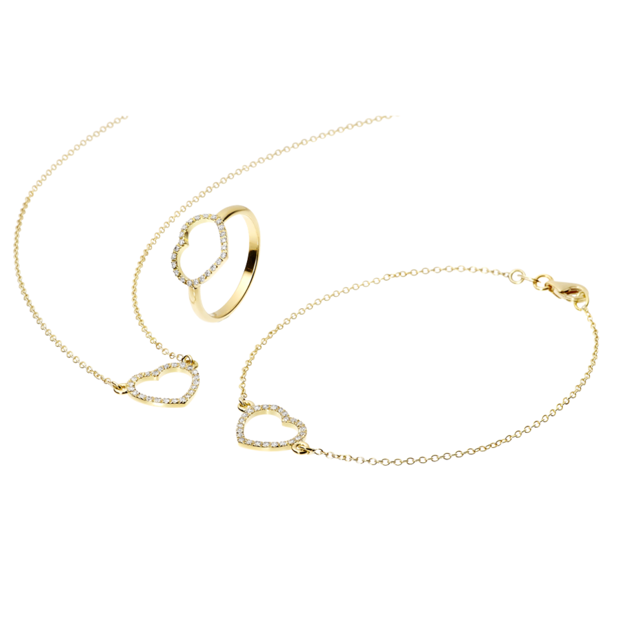 Enchanté Necklace Heart in Yellow Gold