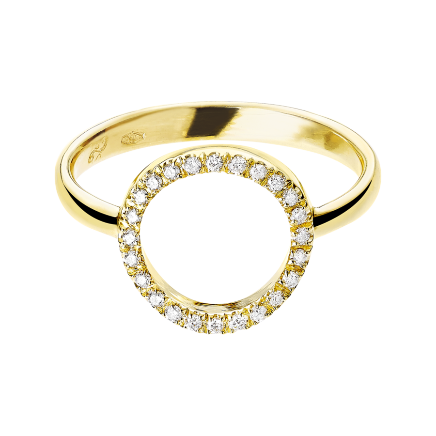 Enchanté Ring Circle in Yellow Gold