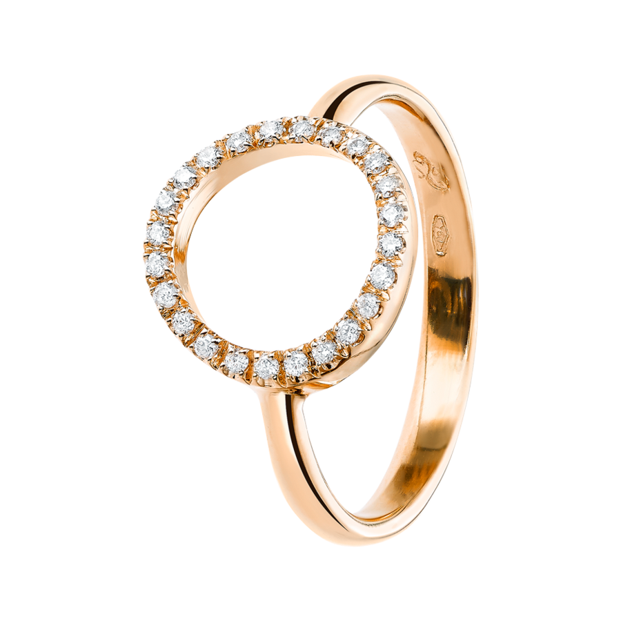 Enchanté Ring Kreis in Roségold