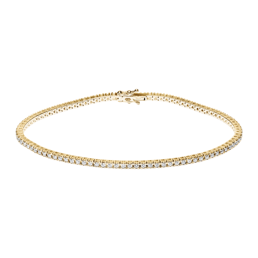 Tennisarmband 0,95ct in Gelbgold