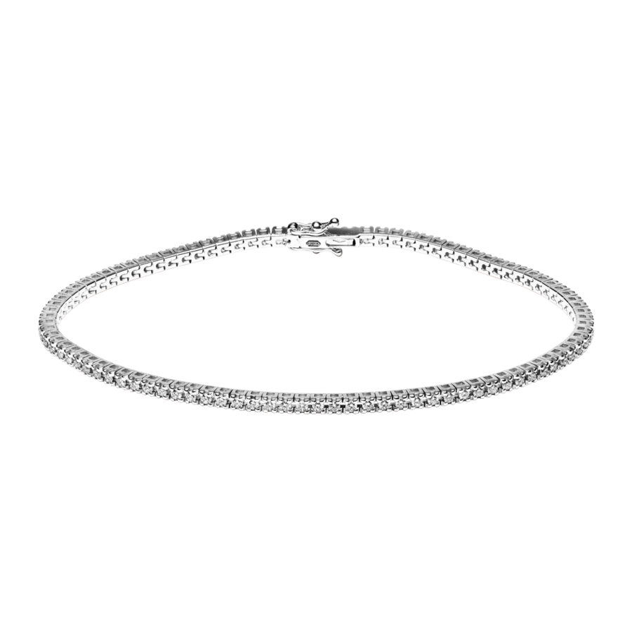 Tennisarmband 0,95ct in Weißgold