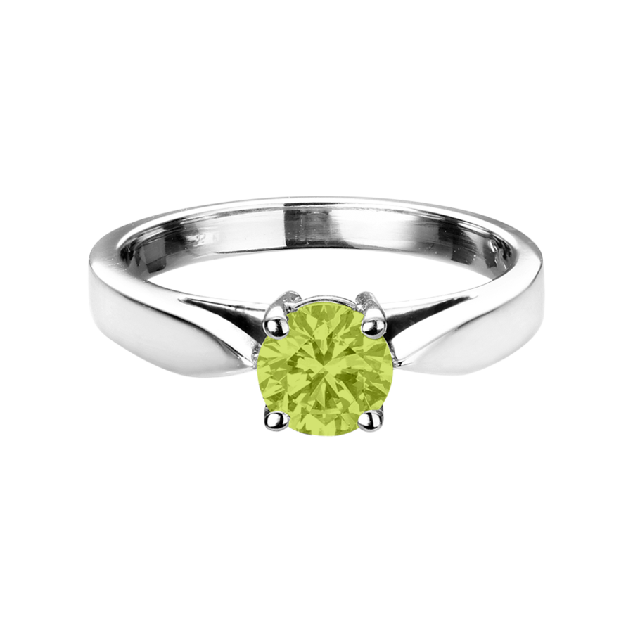 Vancouver Peridot grün in Weißgold
