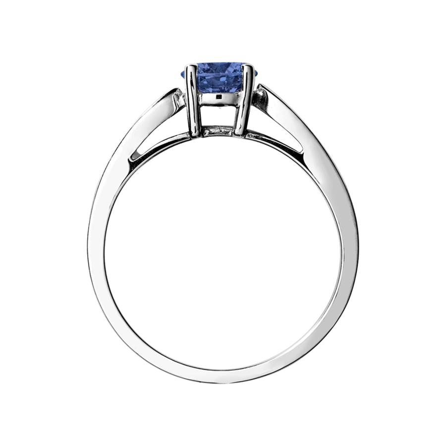 Vancouver Tanzanite blue in Platinum