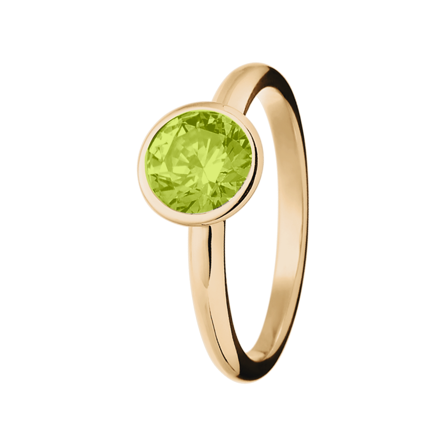 Vienna Peridot green in Rose Gold
