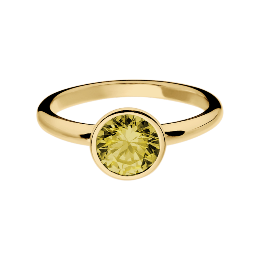 Vienna Sapphire yellow in Yellow Gold