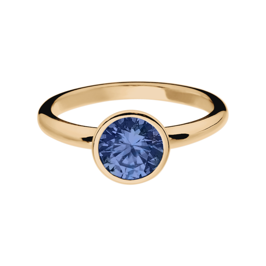 Vienna Tanzanite blue in Rose Gold