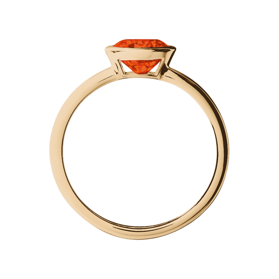 Wien Feueropal orange in Roségold