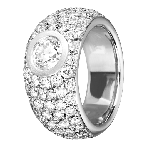 Diamond Snow Ring 77 Diamanten mit Pavé Fassung