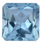 Princess Cut Aquamarin
