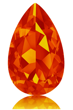 Feueropal feuriges Orange
