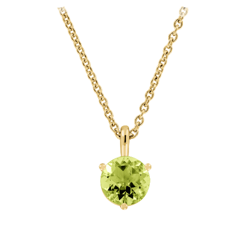 Pendant 3-Prong Setting with a green Peridot