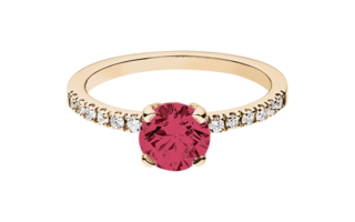 Gemstone Ring Melbourne Ruby red in Rose Gold