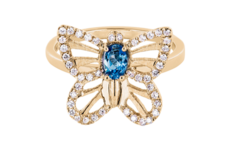 Exclusive Jewellery Collections – Papillon Ring Aquamarine
