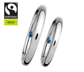 RENÉSIM Wedding Rings with Sapphires – Fairtrade Gold