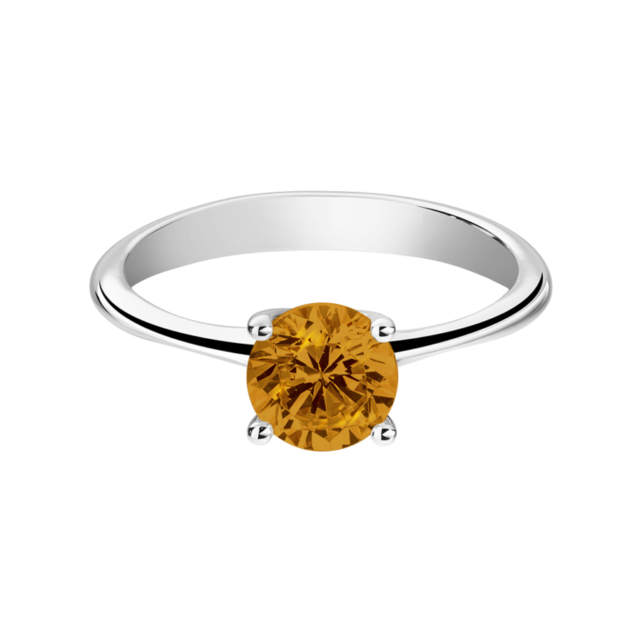 Basel Madeira Citrine orange in White Gold