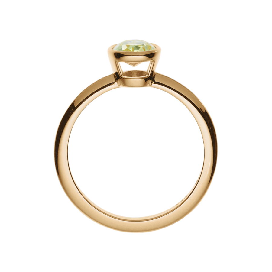 Diamond Ring Fancy Yellow in Rose Gold