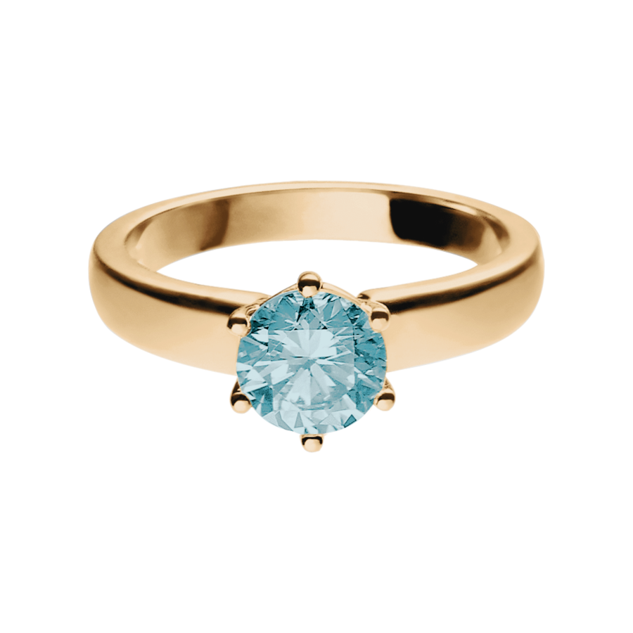 Malmö Aquamarine blue in Rose Gold
