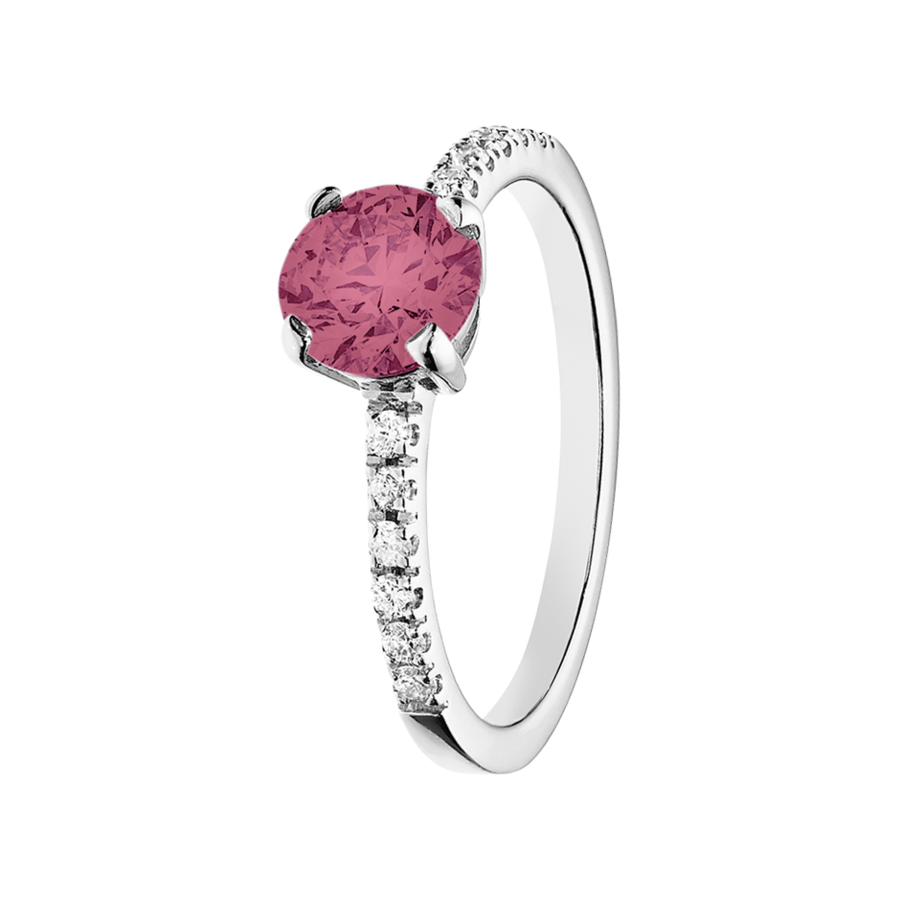Melbourne Tourmaline pink in White Gold