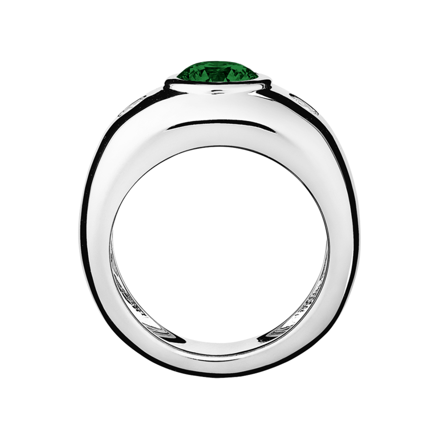 Naples Tourmaline green in White Gold